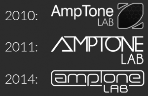 AmpTone Lab logo evolution