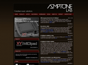 AmpTone Lab website - 2011