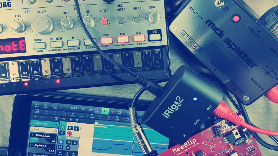 MIDI Splitter MIDI rig